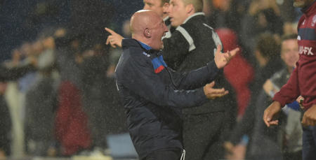 Ian Holloway celebrates his sides draw