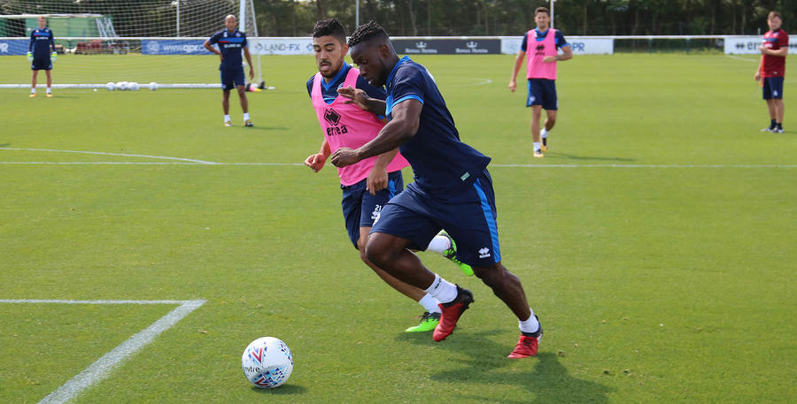 New signing Kazenga LuaLua trained after signing