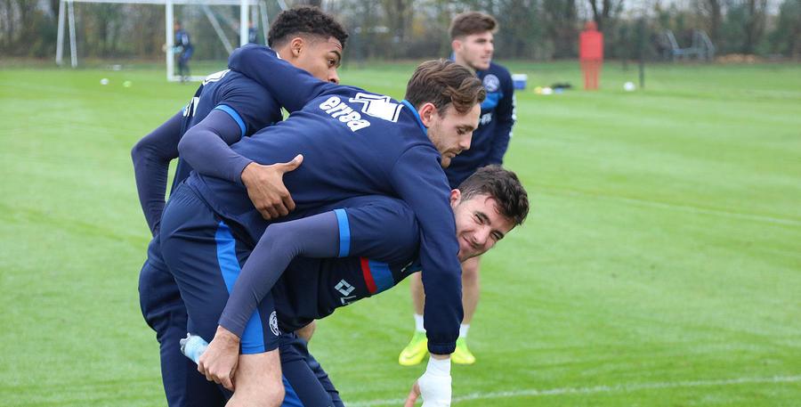 Goss, Robinson and Furlong share a joke