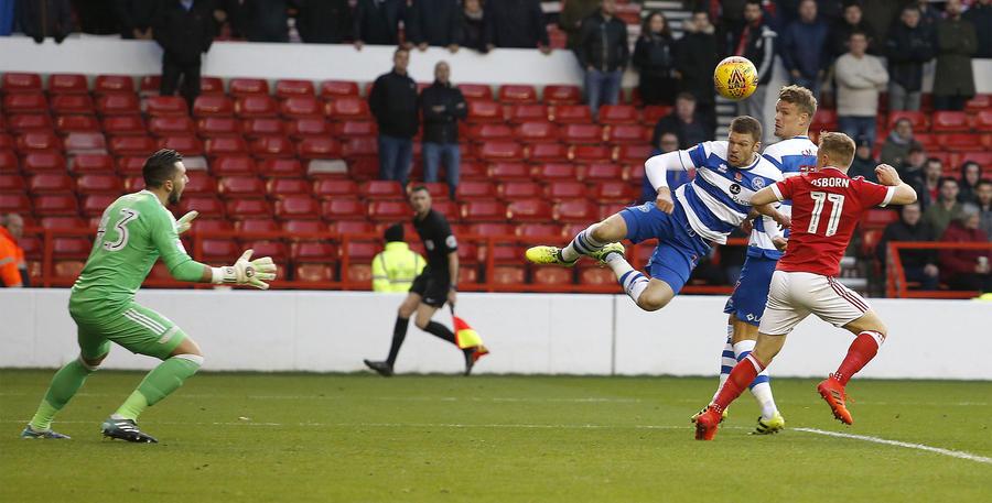 Jamie Mackie leaps into action after coming off the bench