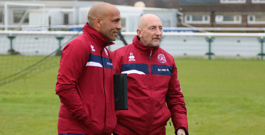 Manager Ian Holloway and his coach Curtis Flemming