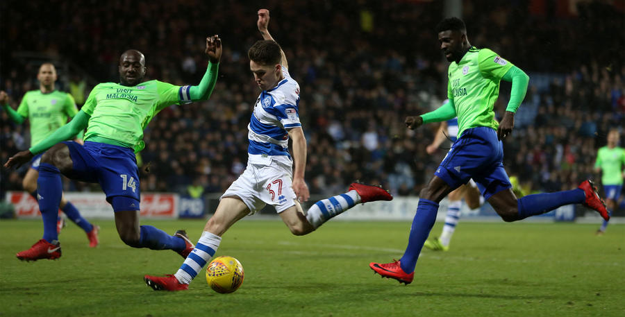 Paul Smyth scores QPR's second on his debut