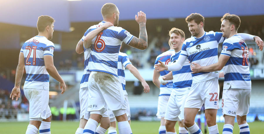 Joel Lynch is congratulated on his goal by his R's teammates