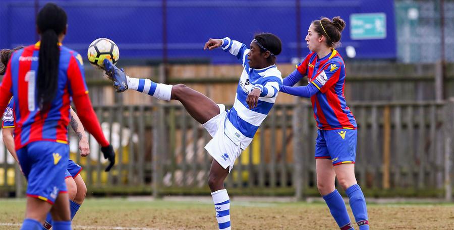 Kasha Petit brings the ball under control at Honeycroft