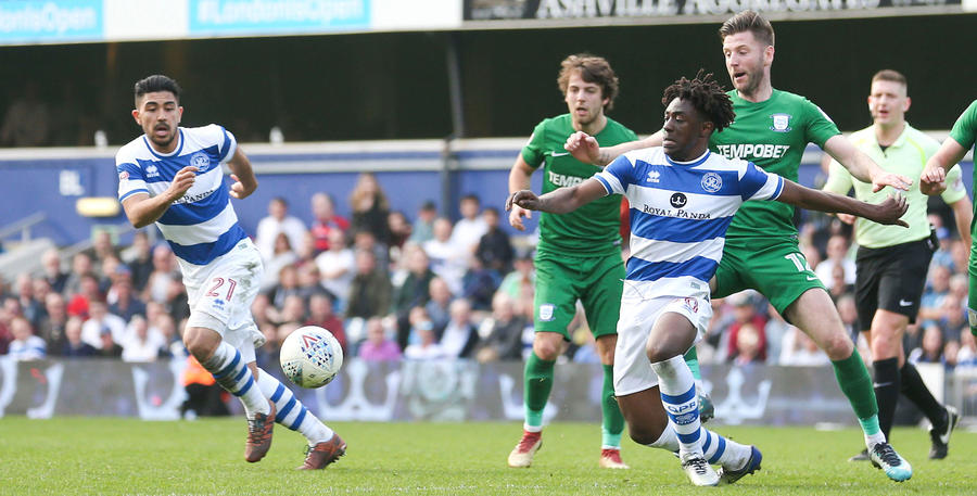 Eberechi Eze tries to create an opportunity
