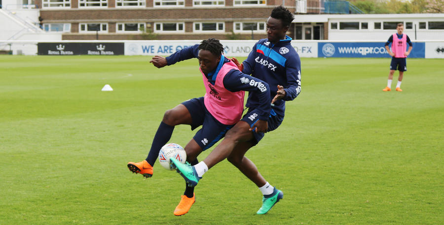 Sylla and Kakay battle for possession