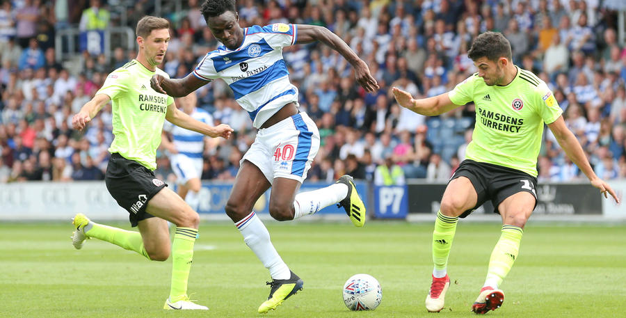 Idrissa Sylla with a nice flick in the opening 45 minutes
