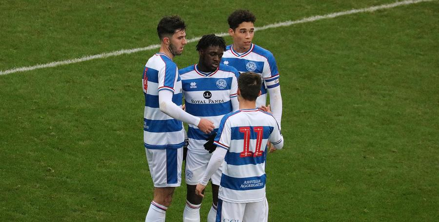 Goss is congratulated following his goal