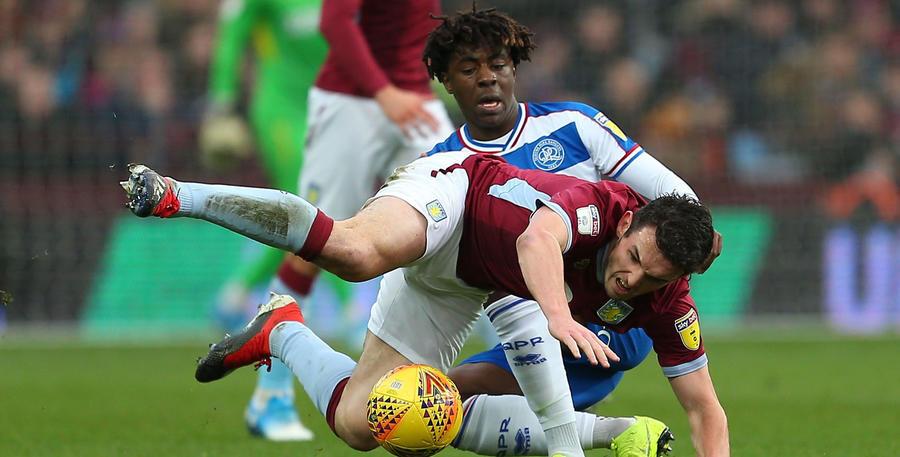 Eze tackles Villa's John McGinn