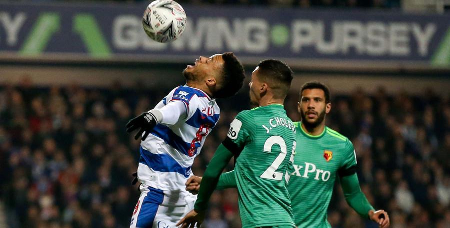 Jordan Cousins controls under pressure from Jose Holebas
