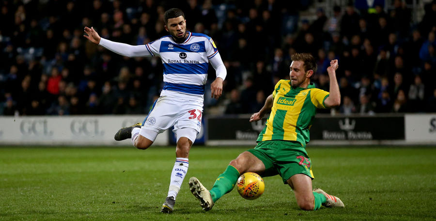Nahki Wells tries to go past West Brom's Sam Field