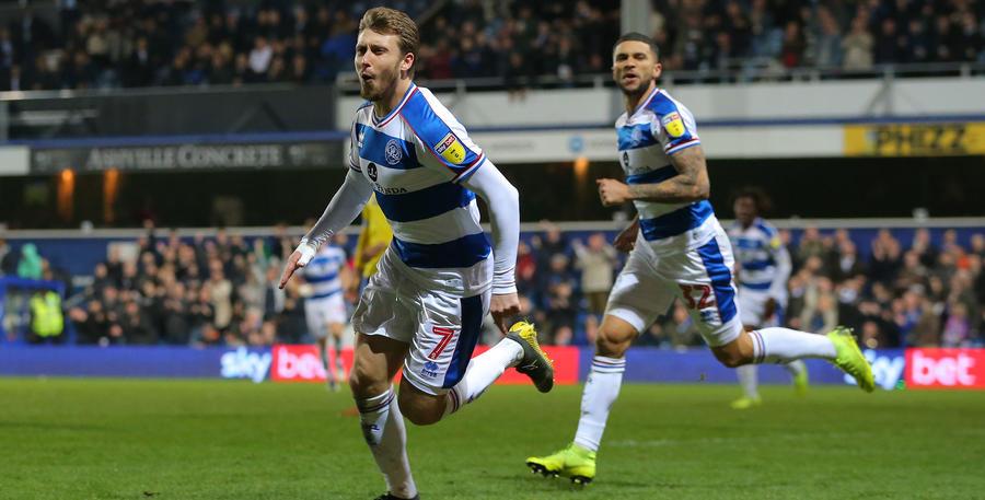 Luke Freeman celebrates his goal