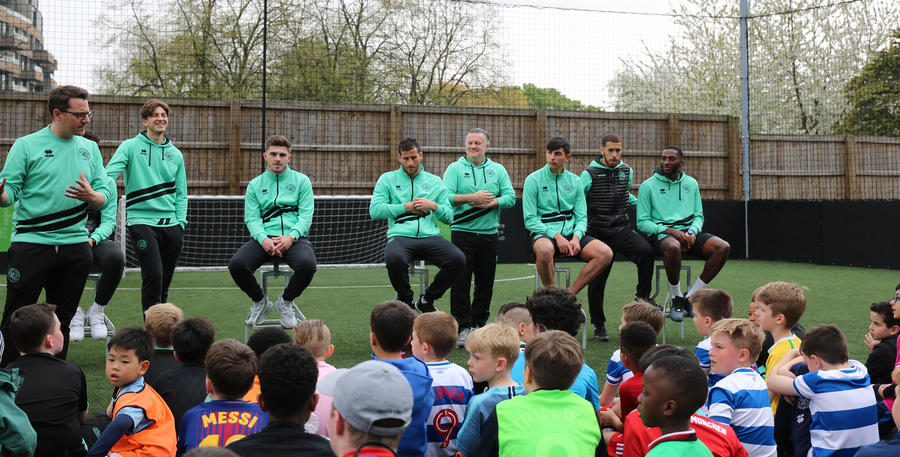 A Q&A was put to the lads to finish off a lovely afternoon
